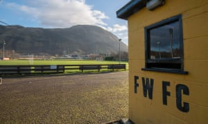 Fort William's Claggan Park ground is nestled in the foothills near Glencoe, in Scotland's western Highlands.