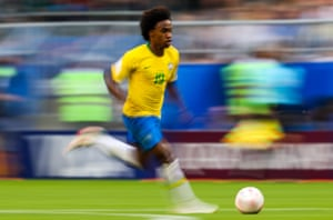 Willian on one of his many driving runs.