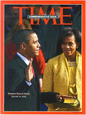 Front cover: Time commemorative issue magazine Feb 02 2009. Obama: