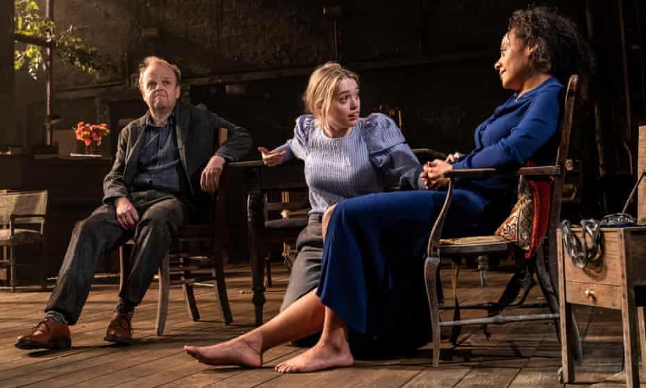 'Sonya's basically a peasant' … Wood with Toby Jones and Rosalind Eleazar in Uncle Vanya.
