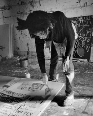 Jean-Michel Basquiat painting, 1983.