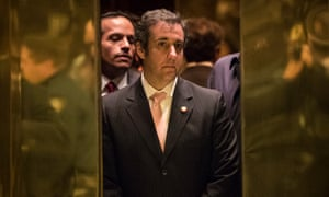 Michael Cohen gets into an elevator at Trump Tower in December 2016.