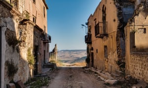 The 'ghost town' of Poggioreale is now a tourist attraction, more widely visited than the new towns that replaced them.