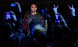 Kanye West as he performs during his concert in Yerevan, Armenia.