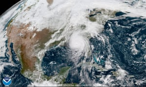From 22,000 miles above the Earth's surface, a weather satellite run by the National Oceanic and Atmospheric Administration captured high-resolution imagery of Hurricane Michael's menacing eye over the Gulf of Mexico.
