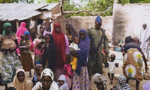 Women and girls freed from Boko Haram in 2015, in the Sambisa Forest, Borno state, Nigeria