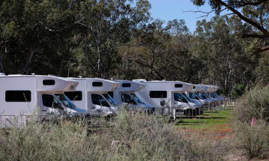 Motor homes have arrived in Wilcannia supplied by NSW Health.