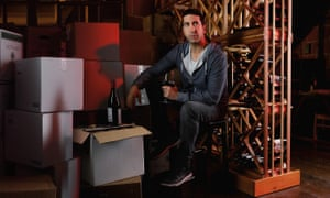 David Schwimmer as Tommy Moran, drinking wine and definitely not saying the word juice