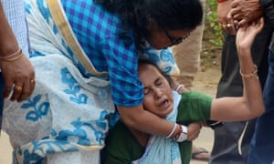 Sudip Datta Bhowmik's mother breaks down in tears following his death.