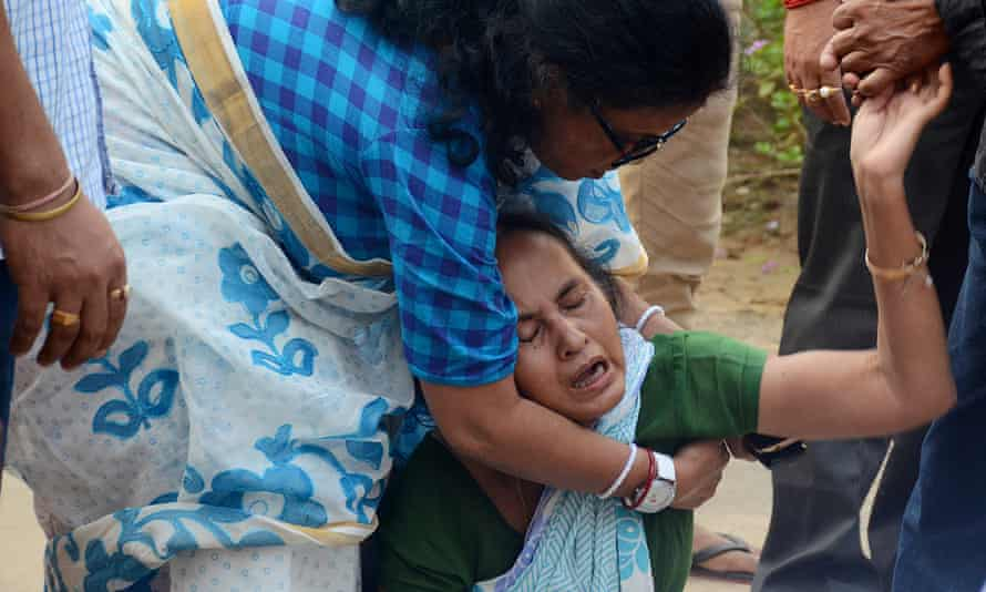 Sudip Datta Bhowmik's mother breaks down in tears following his death.