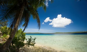 A beach in Vanuatu