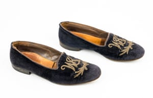 A pair of Winston Churchill's velvet slippers, which could fetch up to £15,000 when they go under the hammer later this month at Bellmans Auctioneers in West Sussex, UK