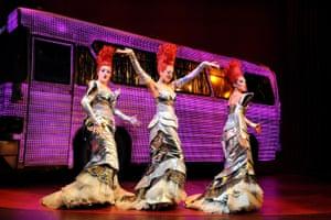 Emma Lindars, Kate Gillespie and Zoe Birkett in Priscilla Queen of the Desert, Palace theatre, London, 2009