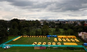 The camp for Venezuelan migrants installed by the Colombian government in Bogotá