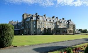 The main Gleneagles Hotel in Auchterarder, Perthshire, Scotland.