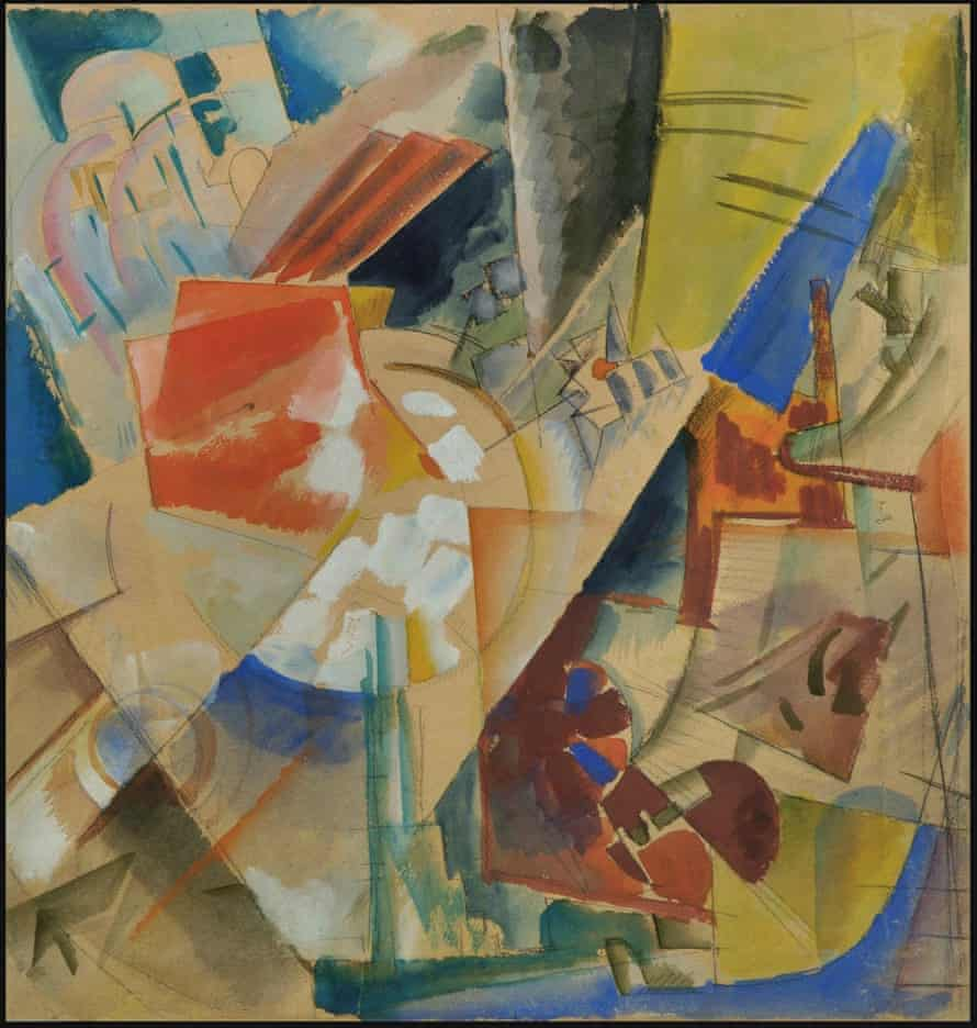 Smuggled out of Russia … Constructive composition, 1919, by Georgy Echeistov.