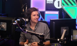 James hosting his first Radio 1 Breakfast show in August 2018.
