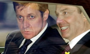 Campbell with the prime minister Tony Blair in 2001. Campbell tells how his psychiatrist likened his relationship with Blair to an affair with another woman – in the eyes of Millar.
