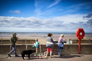 4 August – Sunshine on the beach at Rhyl on the north Wales coast, where unemployment had nearly doubled since the start of the lockdown