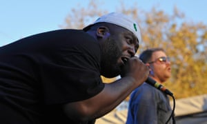 Killer Mike and El-P on stage as Run The Jewels