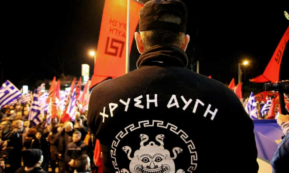 Far Right Golden Dawn Stage Anti Government Protest In Athens