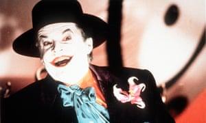 Jack Nicholson as The Joker in Tim Burton's Batman.