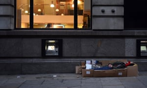 Camden reported the largest increase in rough sleeping of any area in England.
