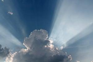 Crepuscular rays, Wokingham, UK