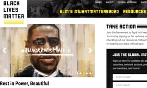 The BLM website Tometi set up.