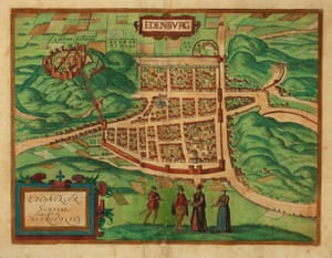 Georg Braun and Frans Hogenberg. Edenburg. Edenburgum Scotiae Metropolis. Cologne, 1581-, Latin text. Original colours. 345 x 460mm. Restorations at centerfold. A fine 'map-view' of Edinburgh with the major buildings shown in profile, with no consideration for perspective. Published in the 'Civitates Orbis Terrarum', the first series of printed town plans. KOEMAN: B&H 3. [Ref: 16625] £750.00