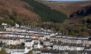 Houses in Abertillery, Wales.