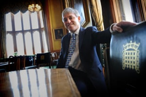 The Speaker of the House of Commons, John Bercow, in his Westminster office after being elected in 2009
