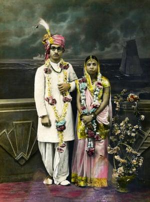 Wedding Portrait of an Indian Couple, c1920-40