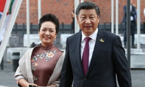 Xi Jinping and his wife, Peng Liyuan, at the G20 summit in Hamburg in July.