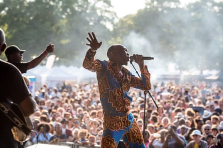 Seun Kuti & Egypt 80 performing at Walthamstow Garden Party in 2018.