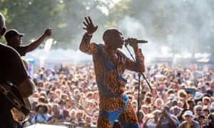 Seun Kuti and Egypt 80 at Walthamstow Garden Party 2018.