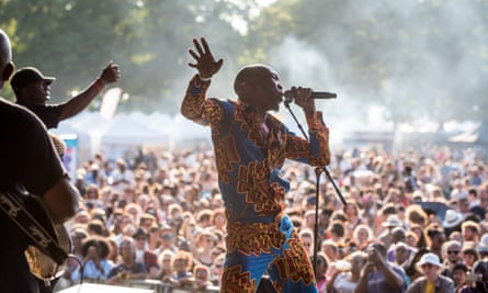Seun Kuti & Egypt 80 on the Barbican music stage at Walthamstow Garden Party earlier this year.