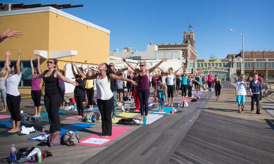 A yoga festival under way in the newly gentrified Asbury Park.