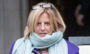 Nicola Stocker said in a Facebook post that her former husband had tried to strangle her.