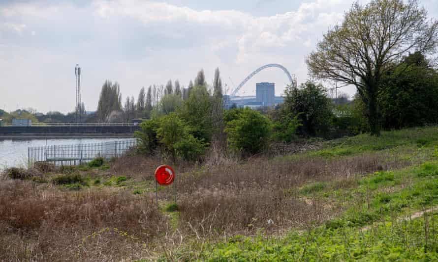 Welsh Harp reservoir in north west London.
