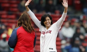 Rochelle Walensky threw out the ceremonial first pitch before a baseball game between the Boston Red Sox and the Miami Marlins at the end of May, as the US began to return to something close to post-pandemic normality.