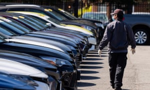 Car sales have slumped and manufacturing all but stopped during April.