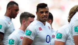 Luther Burrell in action for England against Wales in 2016.