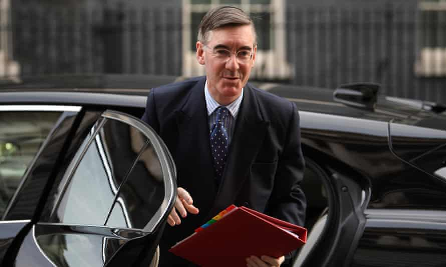 Jacob Rees-Mogg arrives for last week's cabinet meeting
