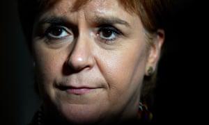 Nicola Sturgeon in the Scottish parliament