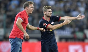 Werner says of the RB Leipzig manager, Julian Nagelsmann: 'He developed me very well up to this point.'
