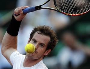 Murray preparing to smash the ball.