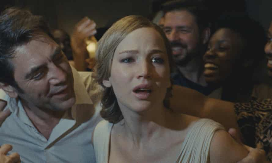 Teething problems … Javier Bardem and Jennifer Lawrence in Mother!
