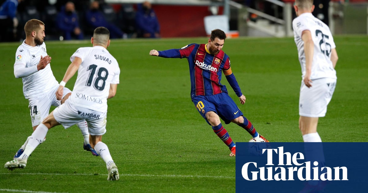 Lionel Messi equals Xavi's Barcelona appearance record in win over Huesca