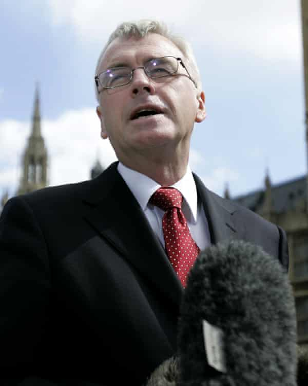 McDonnell in 2006, announcing his intention to stand for the Labour leadership after Tony Blair's departure.